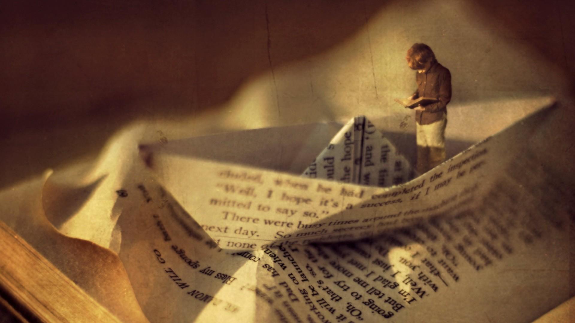 inspiring-boy-reading-book-in-a-boat-artistic-vintage-high-resolution-wallpaper-for-desktop-background