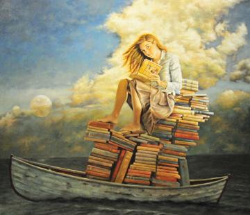 JeffWeekley_GirlWithBooksOnBoat.jpg