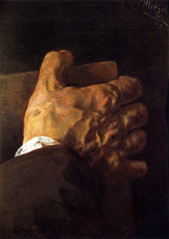 Hand holding a book by Adolph von Menzel.jpg