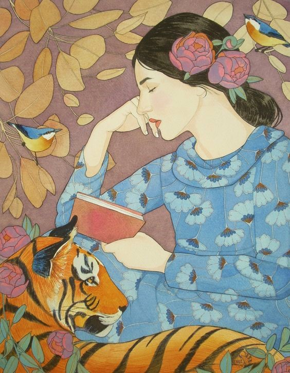 Even the Tiger Stopped to Listen to Her Tale by Mary Alayne Thomas.jpg