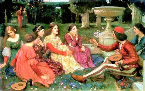 A Tale from The Decameron (1916)  John William Waterhouse.jpg
