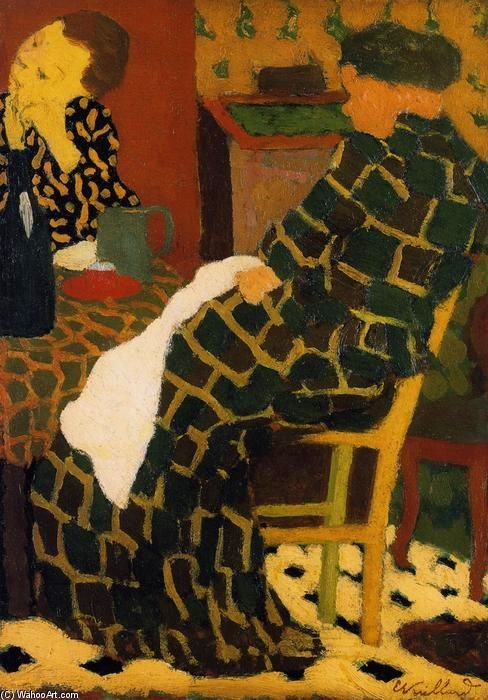 Jean Edouard Vuillard Mother and Daughter at Table.jpg