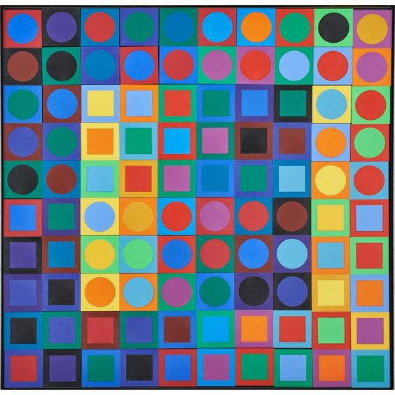 Artwork by Victor Vasarely (1906-1997)