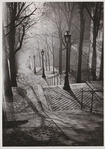 The Steps of Montmartre, Paris, 1936, Brassai